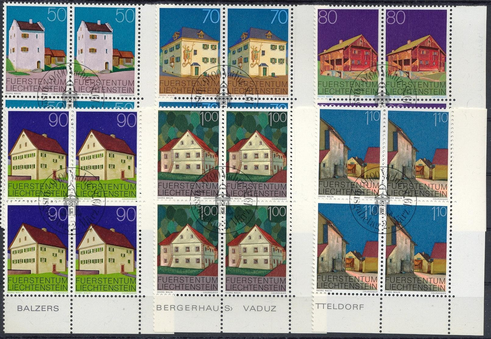 Stamps with Architecture from Liechtenstein (image for product #032214)