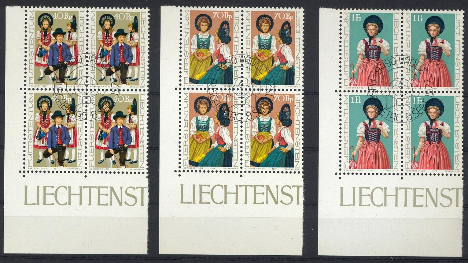 Stamps with Costumes from Liechtenstein (image for product #032218)