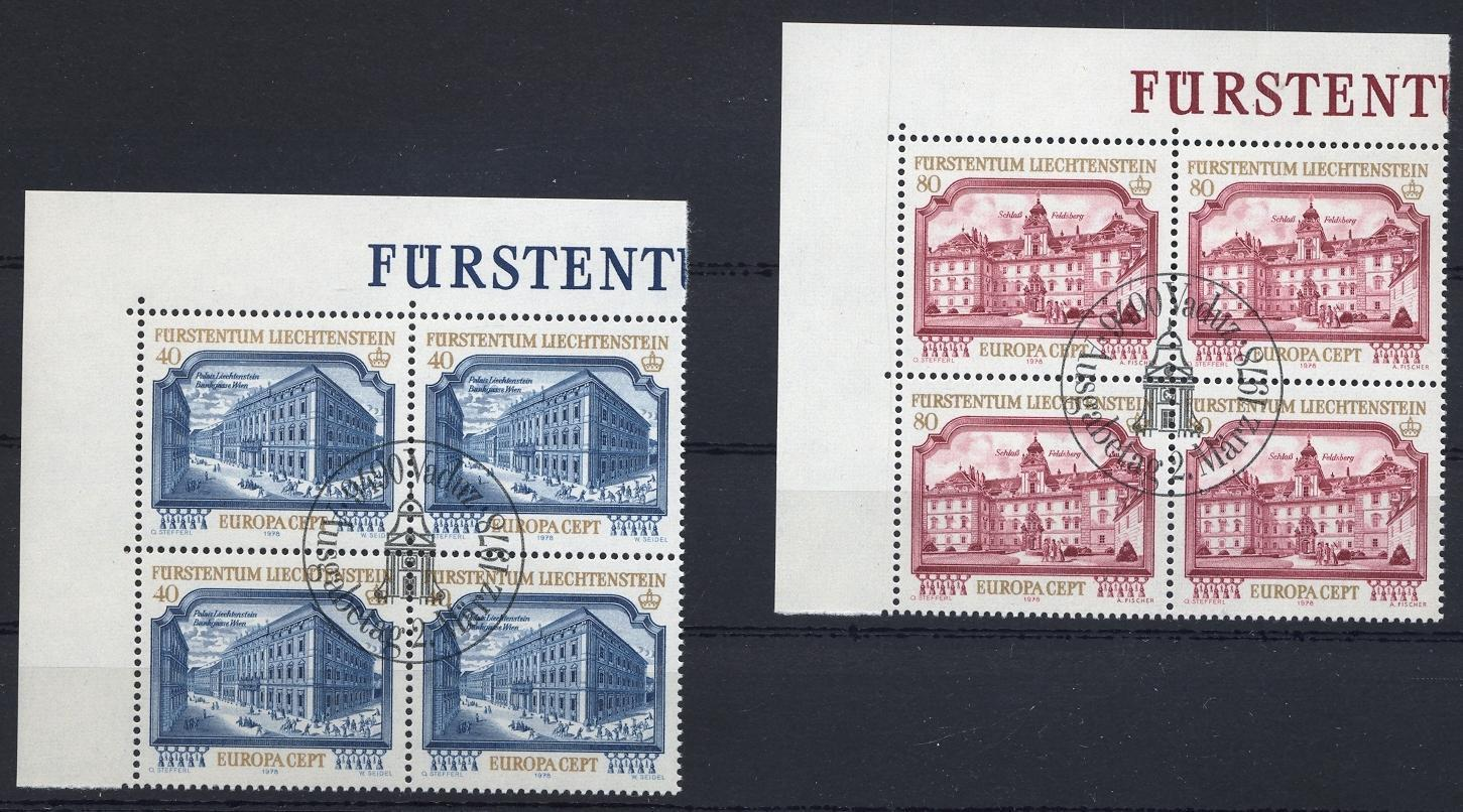 Stamps with Europe CEPT, Architecture from Liechtenstein (image for product #032219)