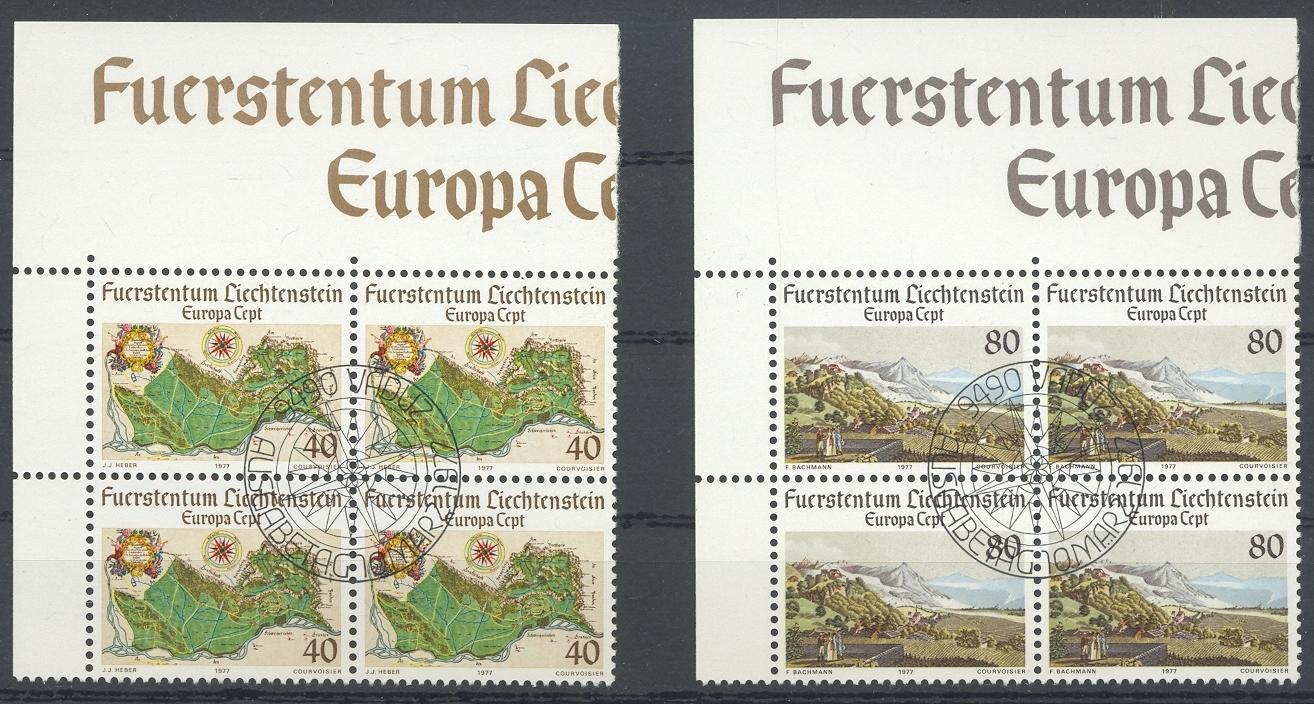 Stamps with Europe CEPT, Map from Liechtenstein (image for product #032229)