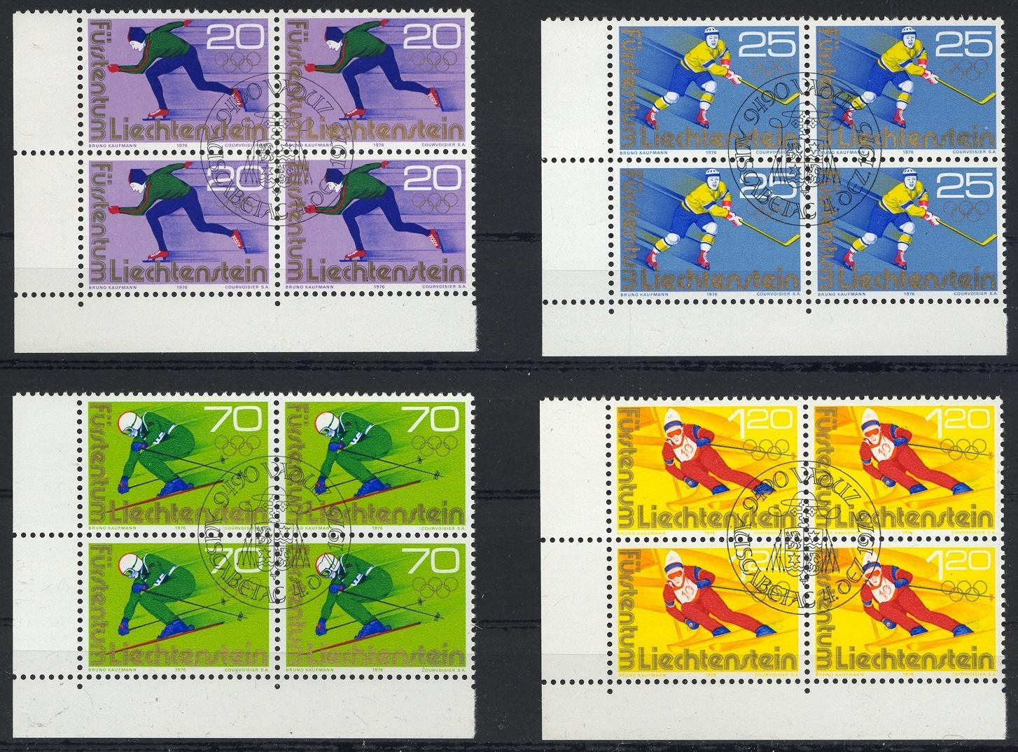 Stamps with Olympic Games, Skating, Icehockey, Ski from Liechtenstein (image for product #032235)