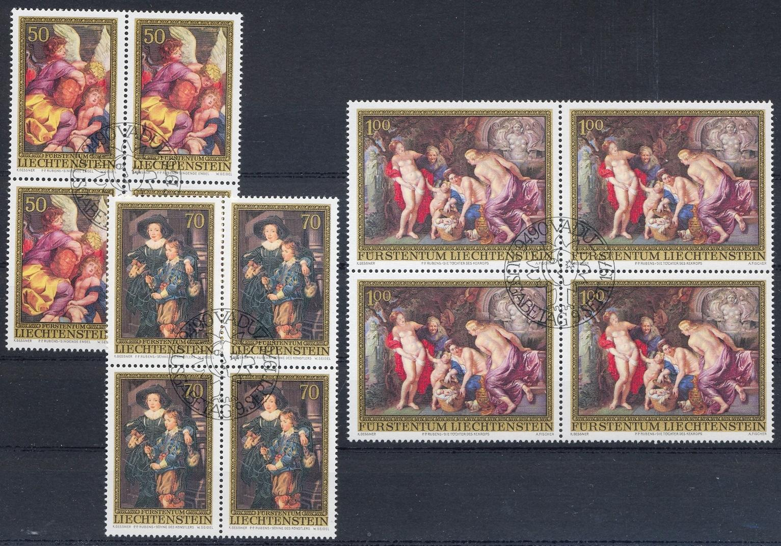 Stamps with Rubens, Art from Liechtenstein (image for product #032242)