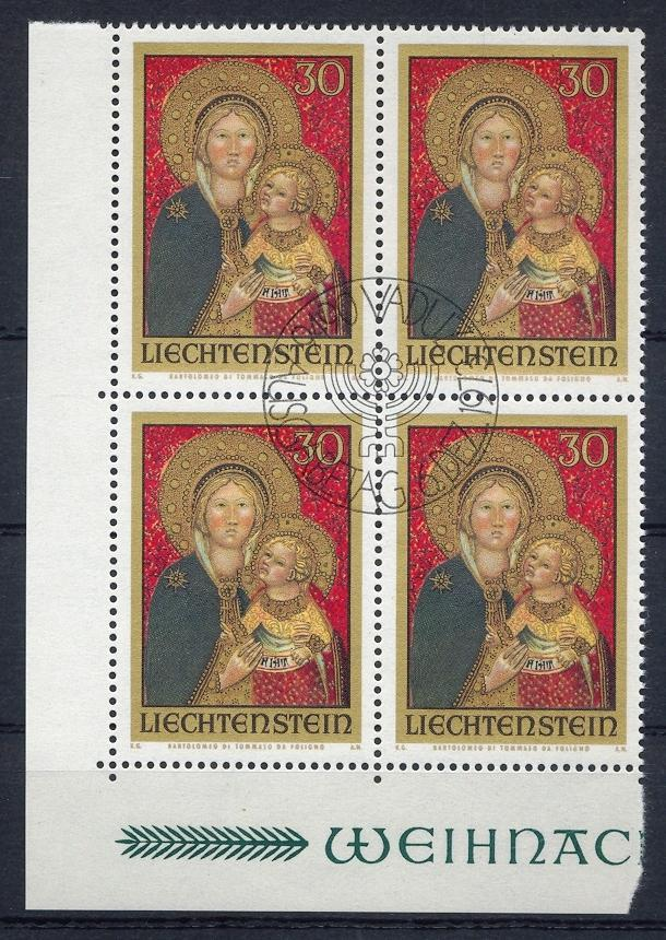 Stamps with Christmas, Madonna, Art from Liechtenstein (image for product #032244)