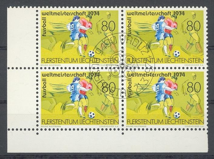 Stamps with Soccer from Liechtenstein (image for product #032246)