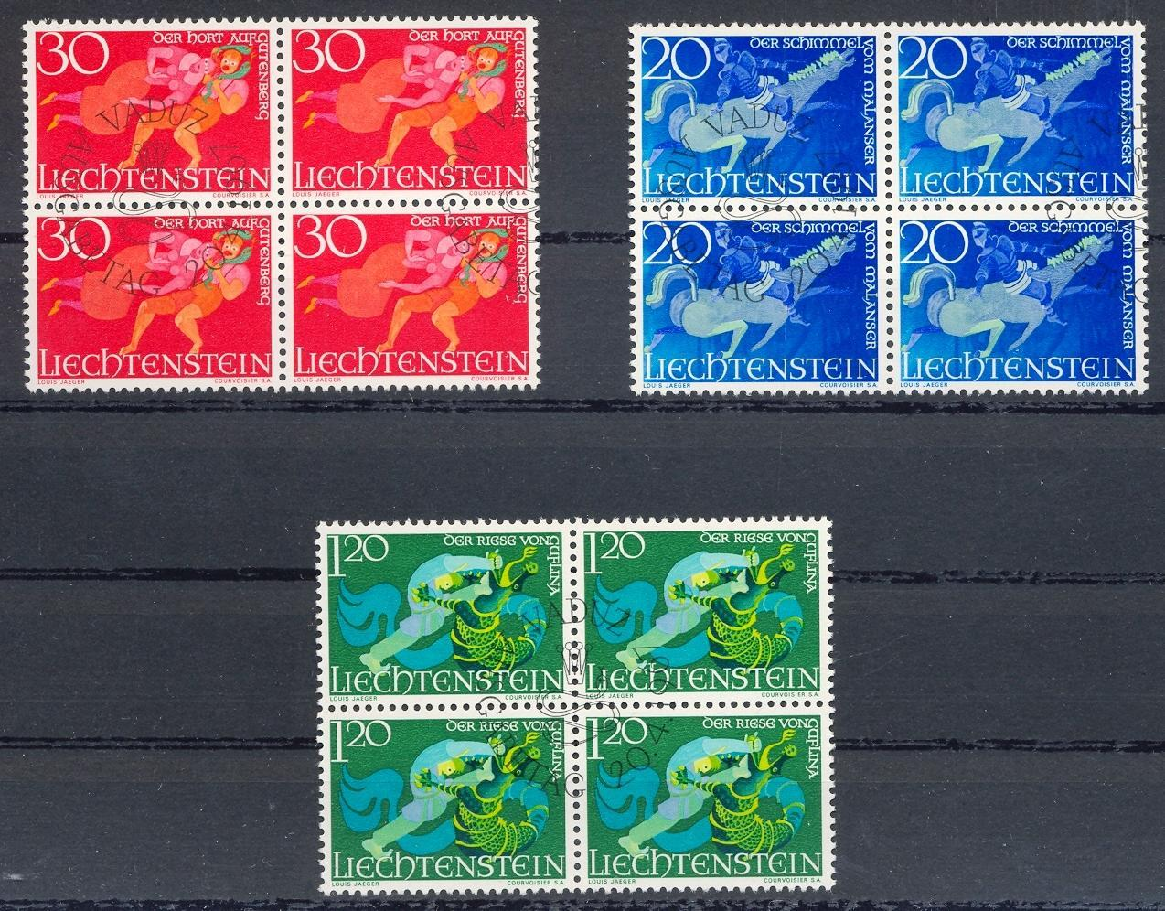 Stamps with Folklore / Fables, Dragon from Liechtenstein (image for product #032249)