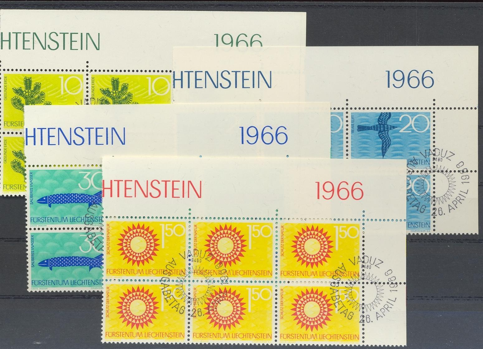 Stamps with Bird, Fish from Liechtenstein (image for product #032260)