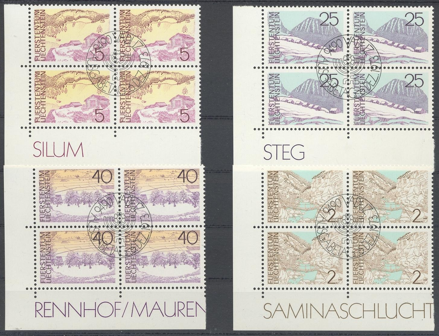 Stamps with Landscapes from Liechtenstein (image for product #032268)