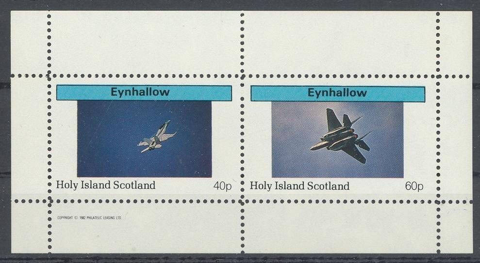 Stamps with Aircraft from Eynhallow (non official) (image for product #032323)