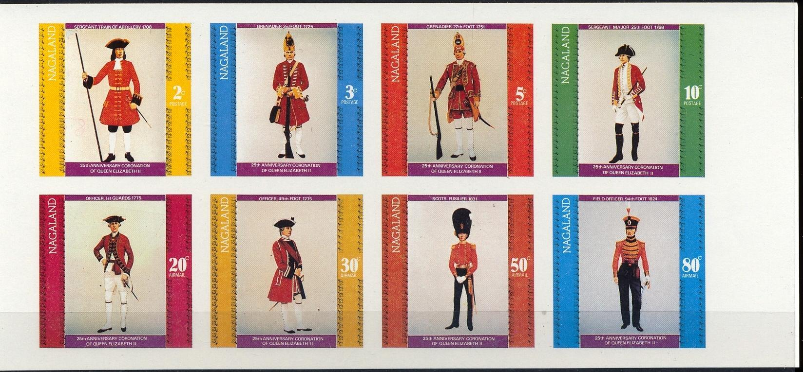 Stamps with Horse, Uniform from Nagaland (non official) (image for product #032331)