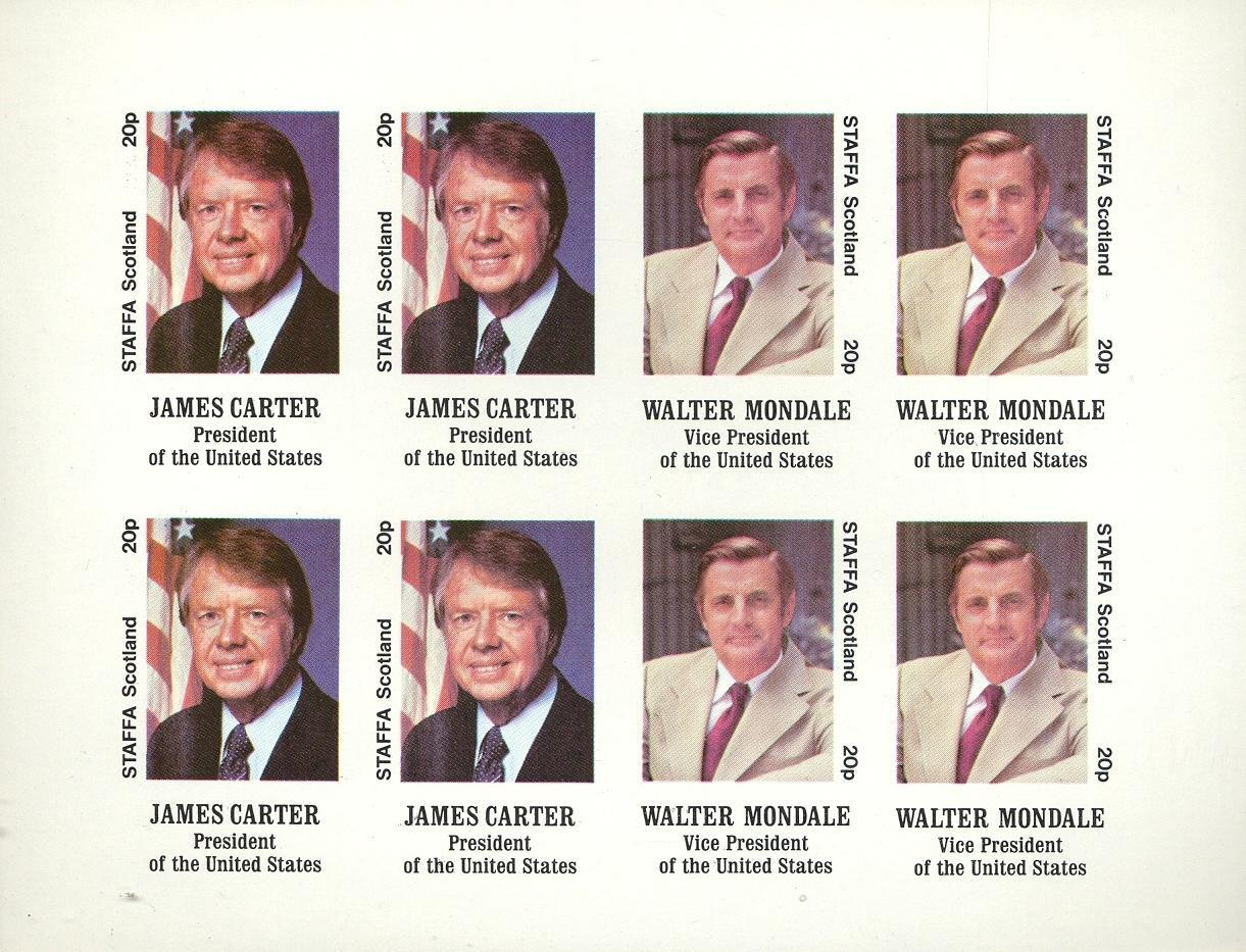 Stamps with President from Staffa (non official) (image for product #032349)