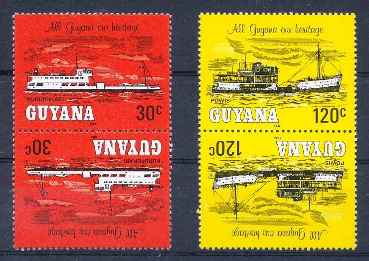 Stamps with Ship from Guyana (image for product #032409)