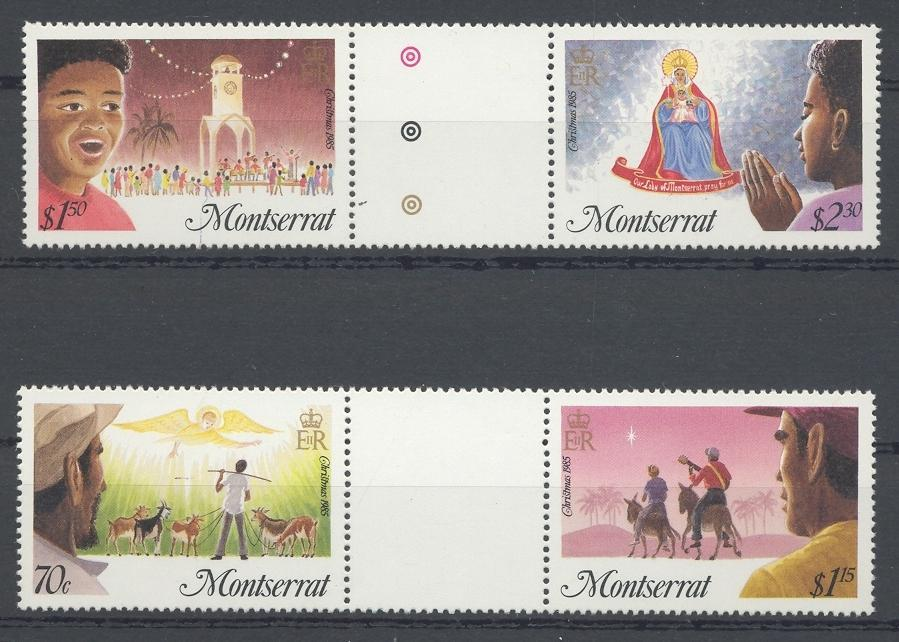 Stamps with Christmas from Montserrat (image for product #032476)