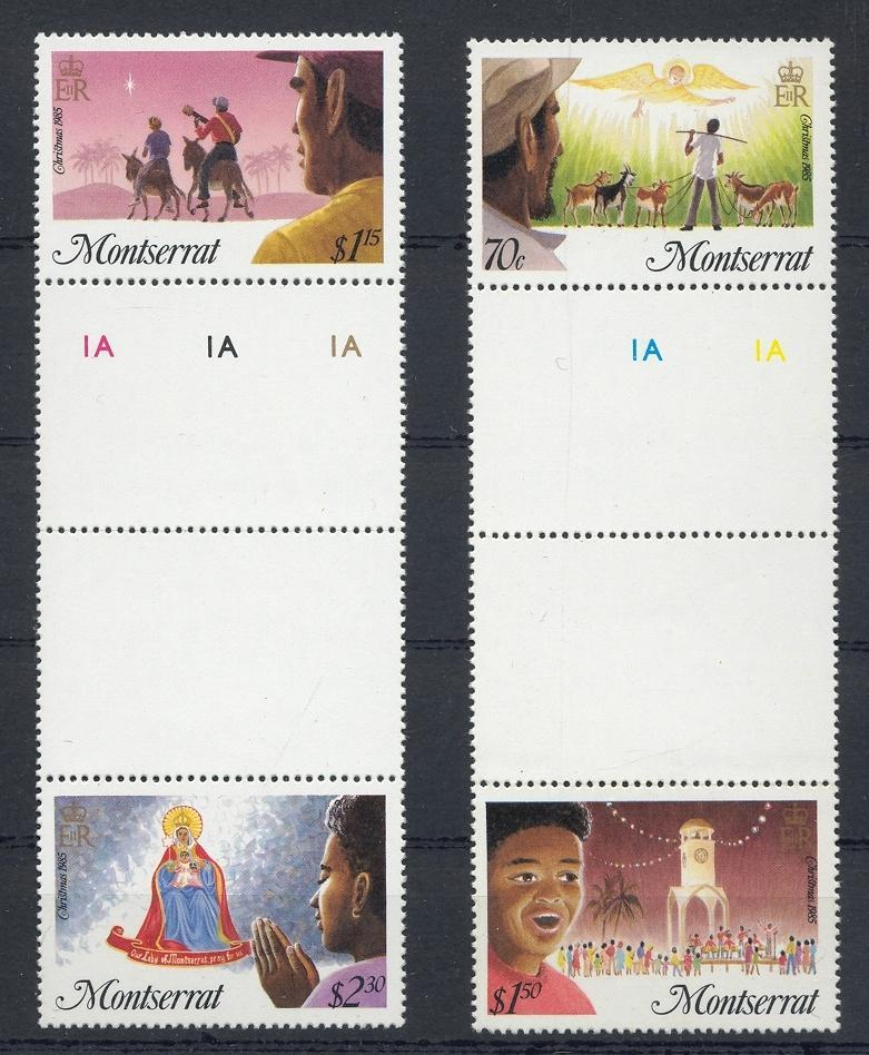 Stamps with Christmas from Montserrat (image for product #032478)