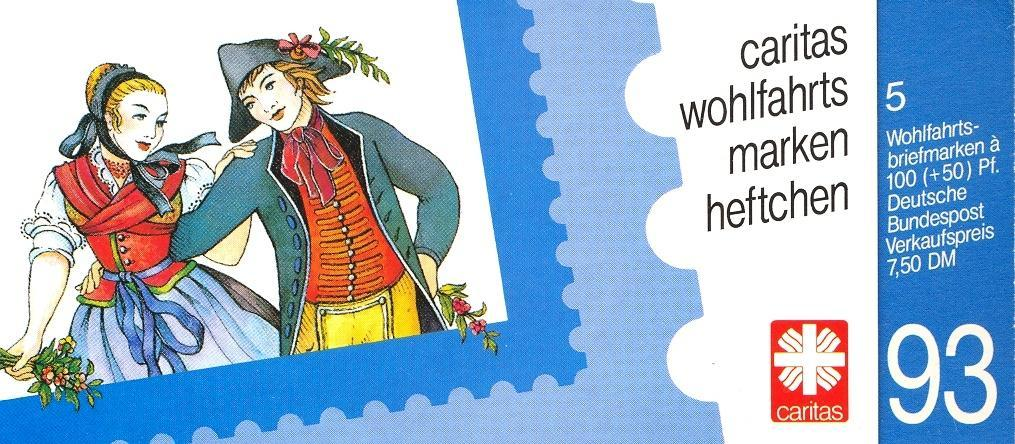 Stamps with Costumes, Booklet, Caritas from Germany (image for product #032530)