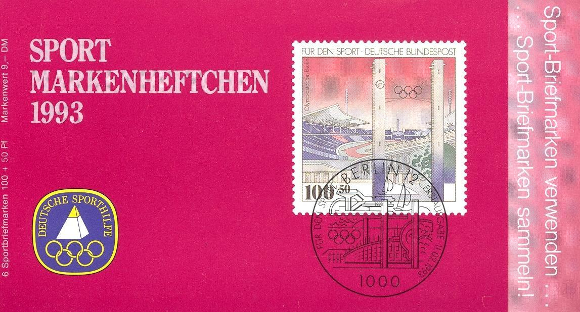 Stamps with Olympic Games, Architecture, Booklet from Germany (image for product #032535)