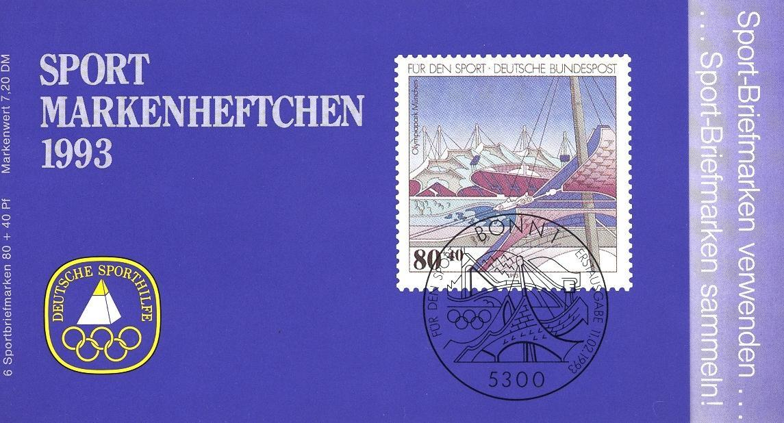 Stamps with Olympic Games, Architecture, Booklet from Germany (image for product #032536)