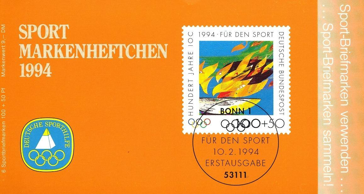 Stamps with Olympic Games, Booklet from Germany (image for product #032537)