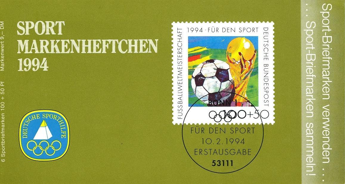 Stamps with Booklet, Olympic Games, Soccer from Germany (image for product #032538)