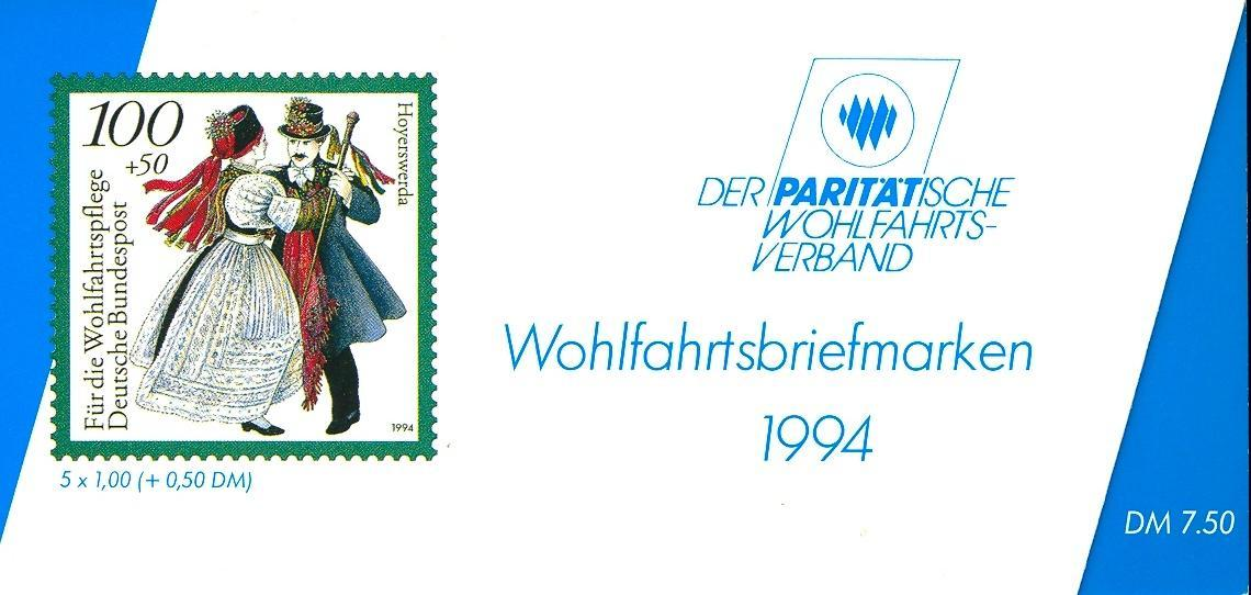 Stamps with Booklet, Economy, Costumes from Germany (image for product #032547)