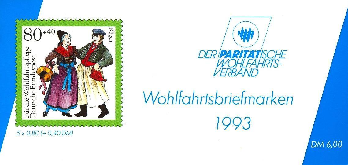 Stamps with Costumes, Booklet, Economy from Germany (image for product #032548)