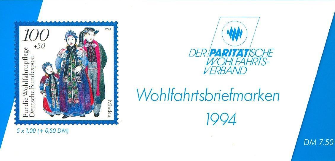 Stamps with Costumes, Booklet, Economy from Germany (image for product #032549)