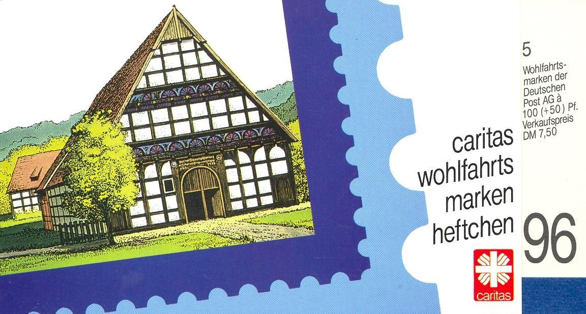 Stamps with Architecture, Booklet, Caritas from Germany (image for product #032569)