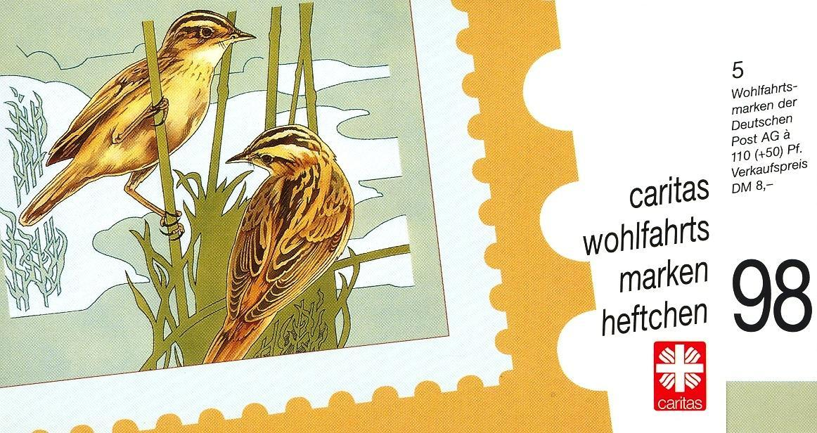 Stamps with Bird, Booklet, Caritas from Germany (image for product #032574)