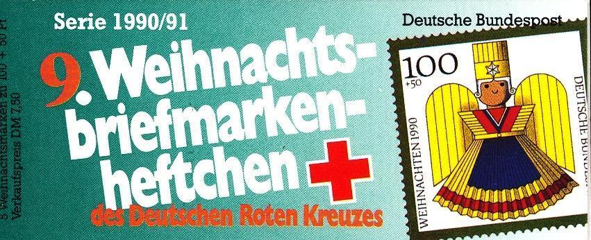 Stamps with Christmas, Red Cross, Booklet from Germany (image for product #032578)