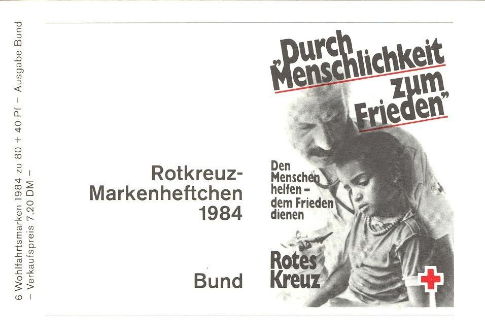 Stamps with Booklet, Red Cross from Germany (image for product #032584)