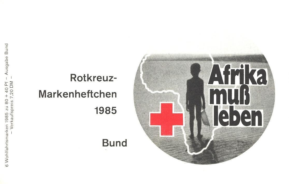 Stamps with Booklet, Red Cross from Germany (image for product #032585)