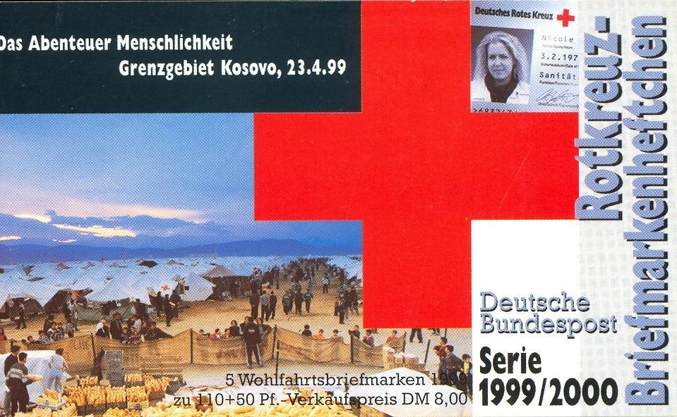Stamps with Booklet, Red Cross from Germany (image for product #032595)