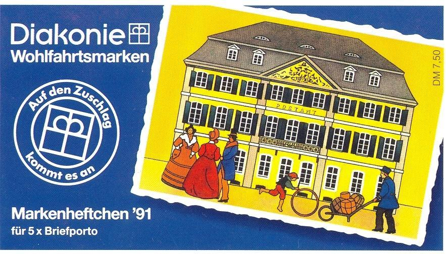 Stamps with Booklet, Religion from Germany (image for product #032599)