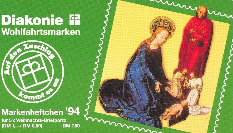 Stamps with Religion, Booklet from Germany (image for product #032600)