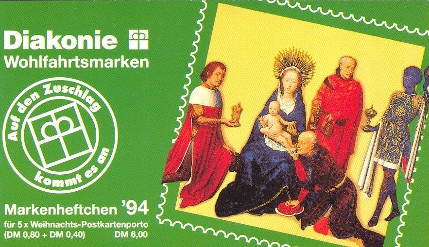 Stamps with Booklet, Religion from Germany (image for product #032601)