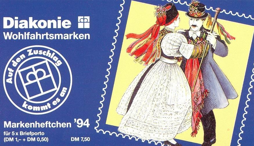 Stamps with Booklet, Religion from Germany (image for product #032602)