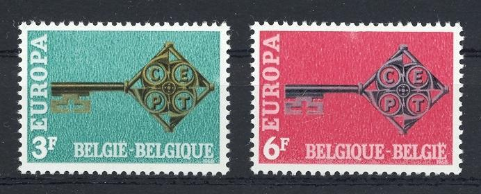 Stamps with Key, Europe CEPT from Belgium (image for product #032606)