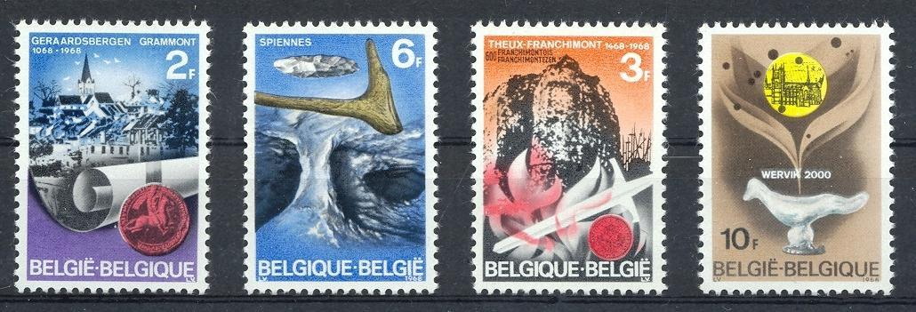 Stamps with Prehistory, Seal, Cities from Belgium (image for product #032617)