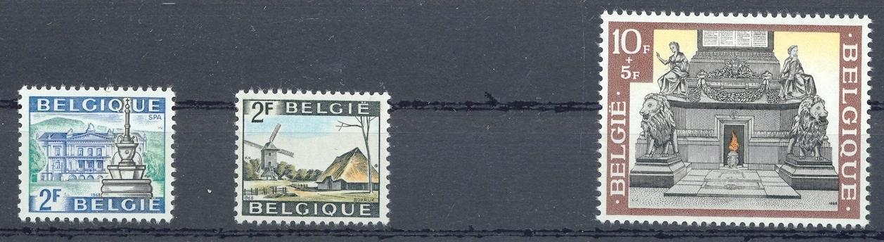 Stamps with Mill, Architecture from Belgium (image for product #032620)