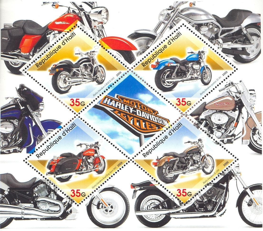 Stamps with Motorcycle from Haiti (non official) (image for product #032696)