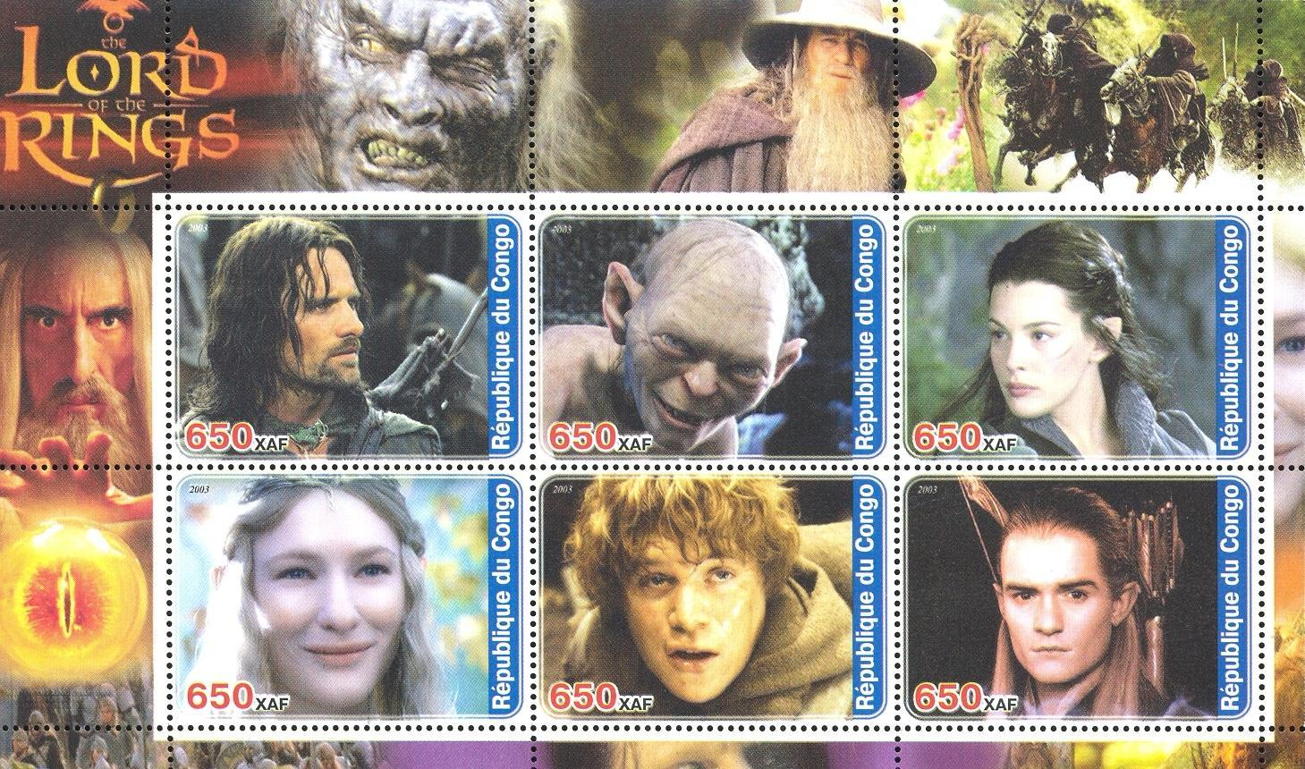 Stamps with Cinema / Movies from Congo (non official) (image for product #032720)