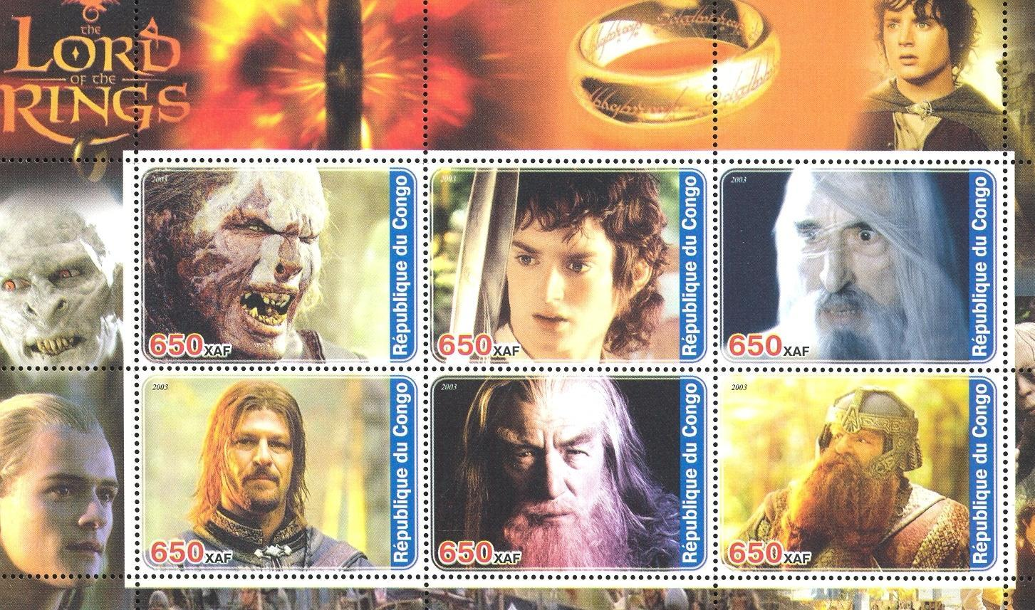 Stamps with Cinema / Movies from Congo (non official) (image for product #032721)
