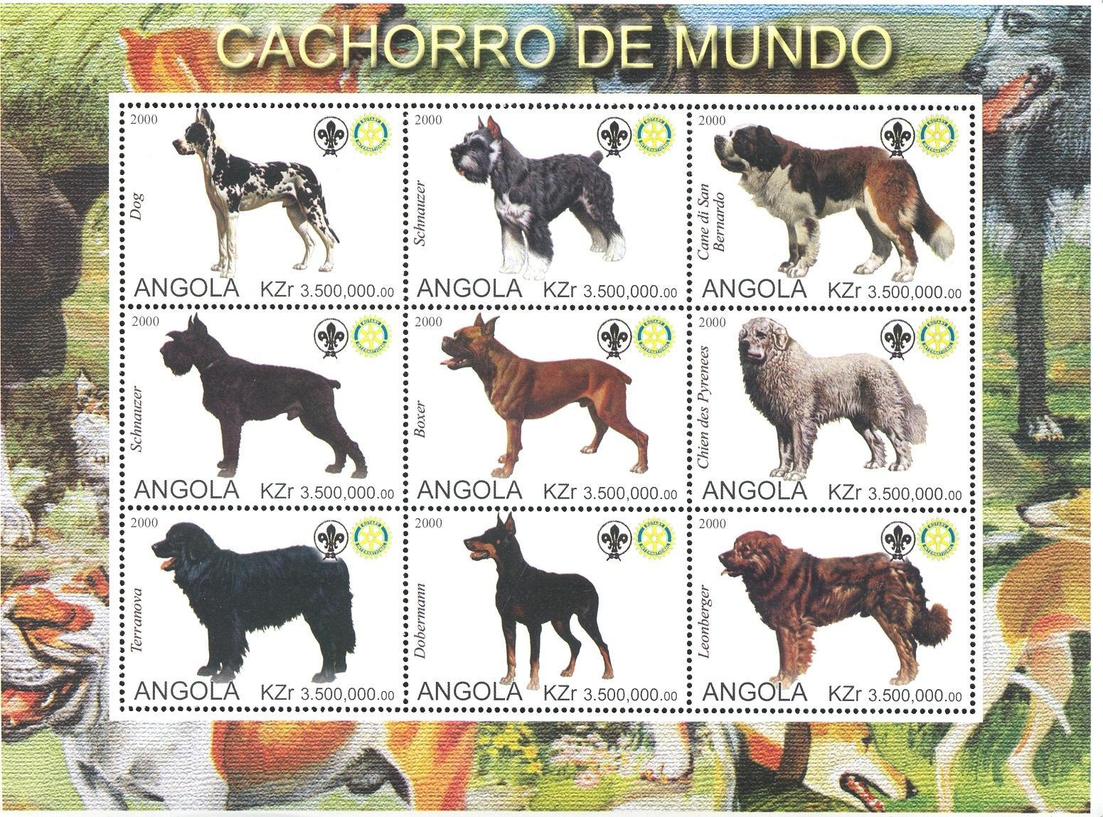Stamps with Scouting, Dogs, Rotary from Angola (non official) (image for product #032741)
