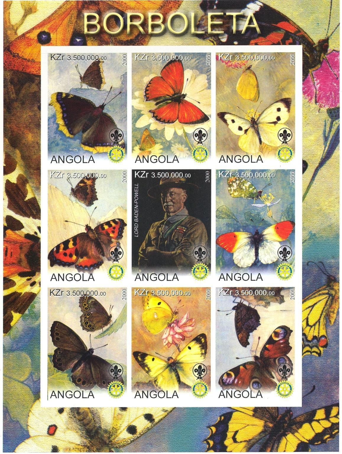 Stamps with Scouting, Butterflies, Rotary, Baden Powell from  (image for product #032744)