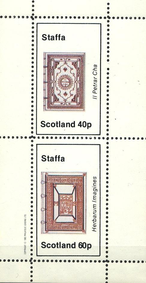 Stamps with Manuscript from Staffa (non official) (image for product #032834)