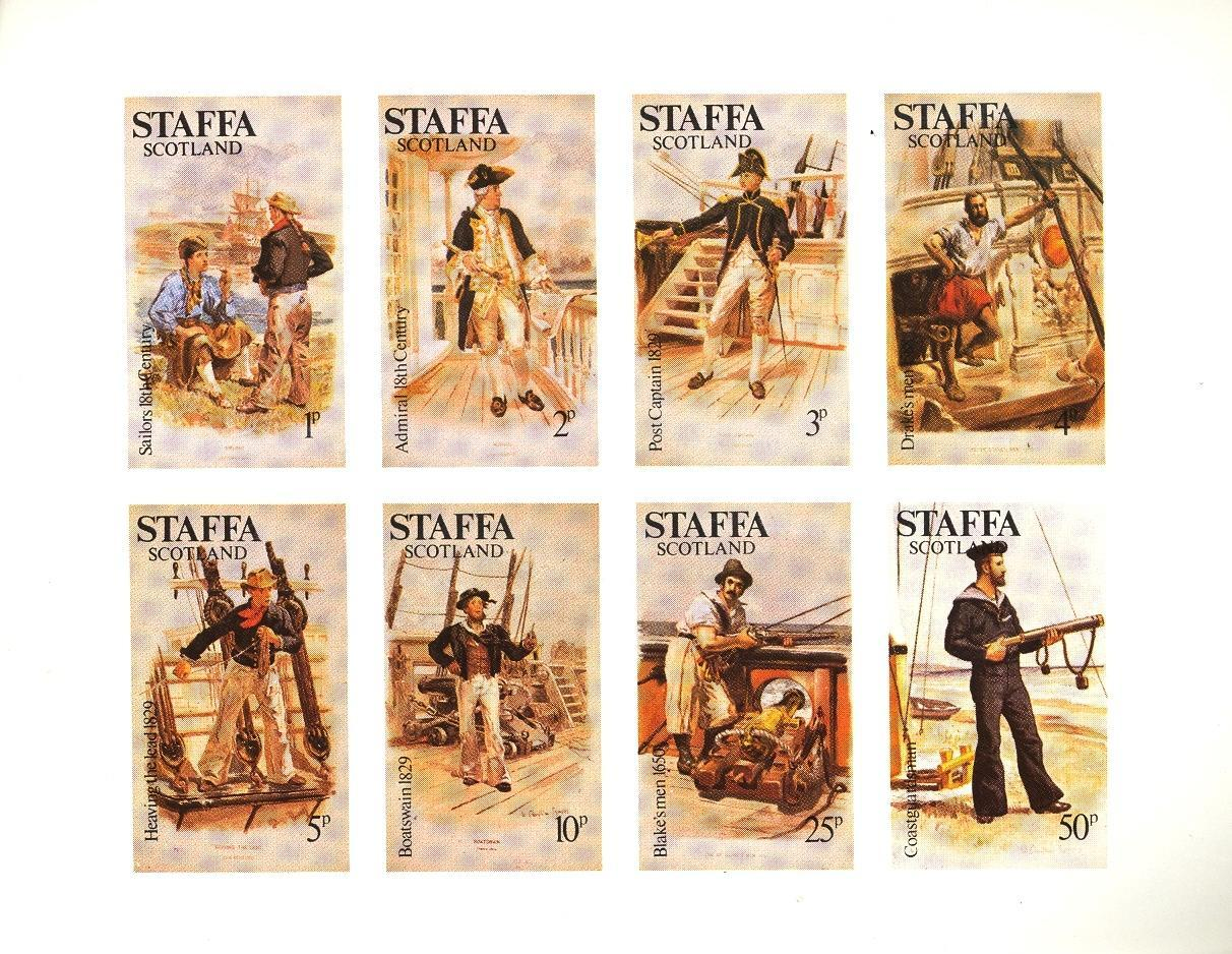 Stamps with Ship, Uniform from Staffa (non official) (image for product #032846)