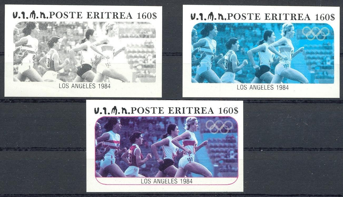 Stamps with Olympic Games, Athletics from Eritrea (image for product #032855)