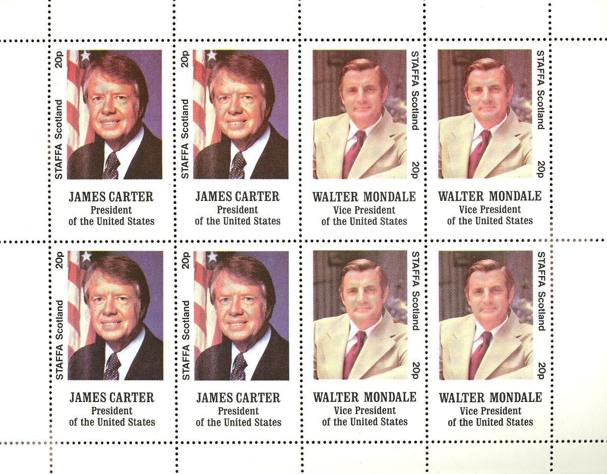 Stamps with President from Staffa (non official) (image for product #032856)