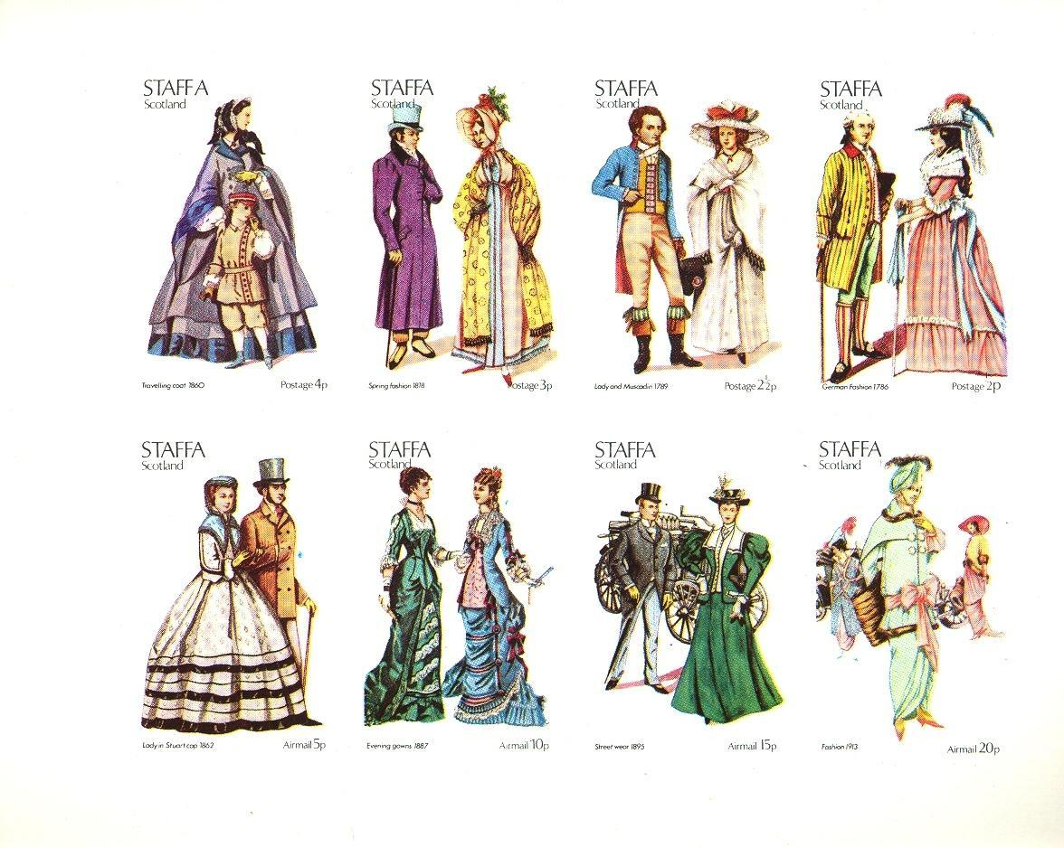 Stamps with Costumes, Cars from Staffa (non official) (image for product #032857)