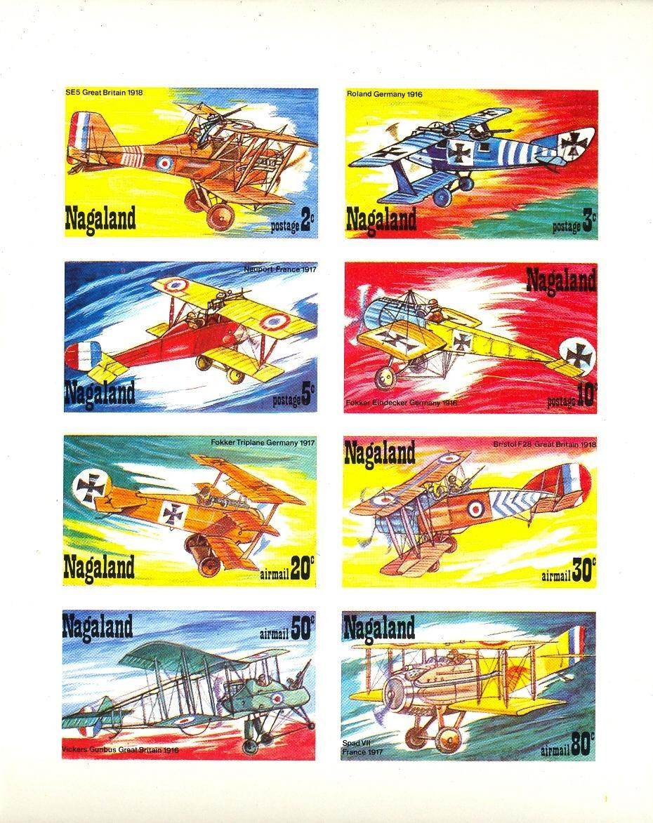 Stamps with Aircraft from Nagaland (non official) (image for product #032863)