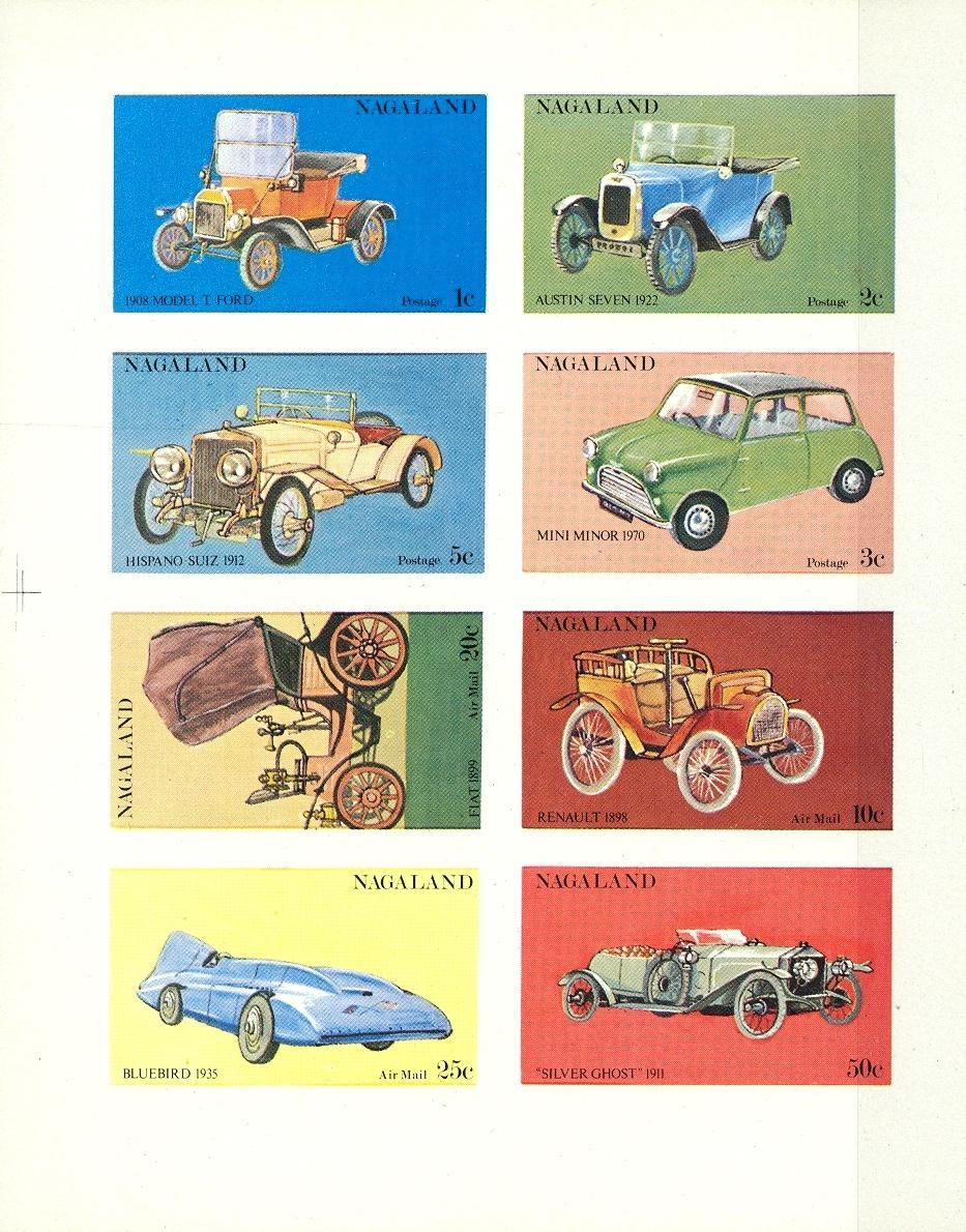 Stamps with Cars, Oldtimers from Nagaland (non official) (image for product #032868)